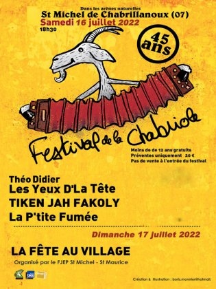 45EME FESTIVAL DE LA CHABRIOLE 2020