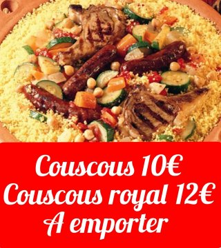 Week-end Couscous à emporter