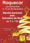 Marché dominical avec animations de Noel